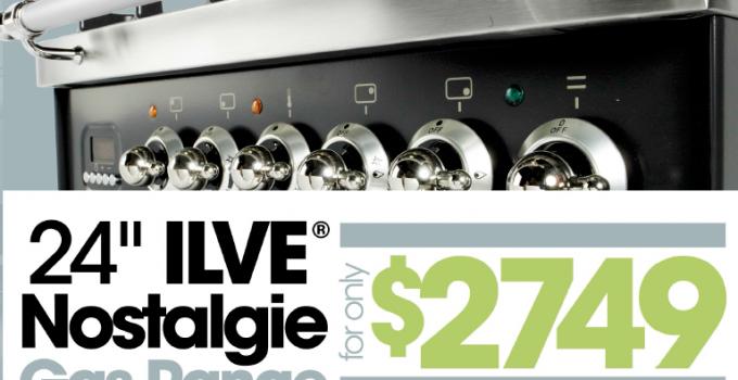 ILVE 24″ Gas Range Promotion