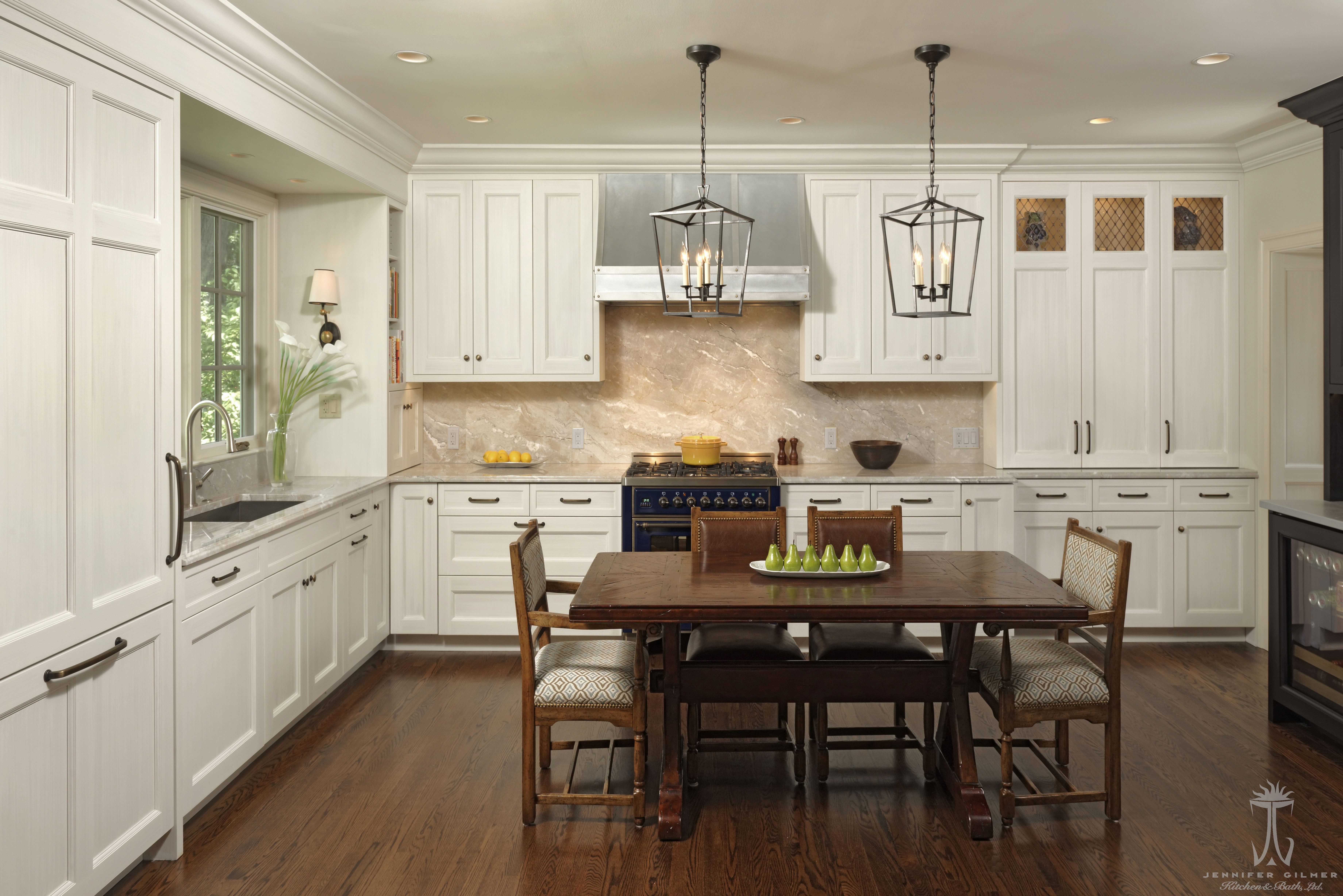 Designer Meghan Browne, From Jennifer Gilmer Kitchen U0026 Bath Ltd., Flipped  This Cluttered Space Into A Breathtaking Kitchen. Wanting To Keep Family At  The ...