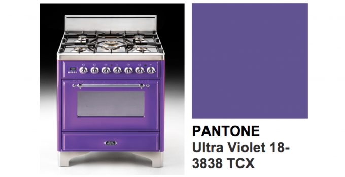 Bring Ultra Violet Inspired Colors into Kitchen Designs with ILVE